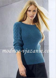 Синий джемпер - Жакеты,полуверы, свитера