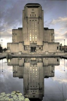 """Dieselpunk Radio (""""Radio Kootwijk"""") - Dieselpunks - The main building of the transmitter park (referred to as 'Building A', 'The Cathedral' or 'The Sphynx') was designed by Dutch architect Julius Maria Luthmann in Art Deco Style. Gothic Architecture, Amazing Architecture, Landscape Architecture, Interior Architecture, Landscape Art, Classical Architecture, Ancient Architecture, Sustainable Architecture, Urban Landscape"""