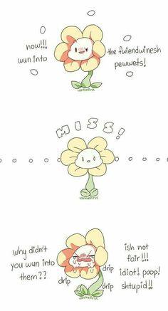 Undertale-Flowey- I know he's kinda evil but omg it's freakin adorable Undertale Flowey, Undertale Game, Undertale Fanart, Undertale Comic, Dark Flower, Flowey The Flower, Sans Papyrus, Toby Fox, Underswap