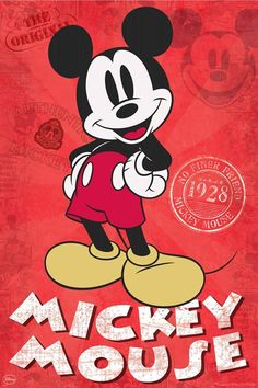 Mickey Mouse is a cartoon character created in 1928 by Walt Disney and Ub Iwerks at The Walt Disney Studio. Check out this cool new Poster of the famous mouse. Arte Do Mickey Mouse, Mickey Mouse Wallpaper Iphone, Mickey Mouse And Friends, Cute Disney Wallpaper, Walt Disney, Disney Fun, Disney Mickey, Disney Pixar, Disney Animation