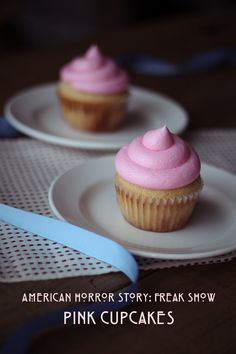 Pink cupcakes from American Horror Story: Freak Show #AHS #freakshow #cupcakes