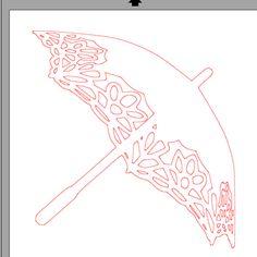 fichier sst ** parapluie ombrelle ** pour silhouette studio - scrapbooking carterie silhouette cameo tuto astuce scrap image tube numérique ...