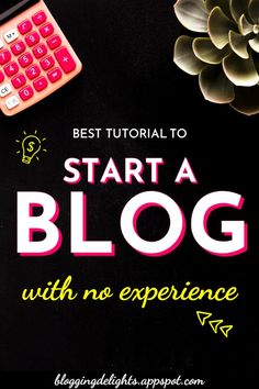 Best Tutorial To Start A Blog With No Experience … start your own blog , blogging tips, make money online #bloggingforbeginners #startyourownblog #bloggingtips #makemoneyonline #blogging #bloggingdelights Make Money Traveling, Make Money Blogging, Make Money Online, How To Make Money, Start Online Business, Online Blog, Good Tutorials, Online Entrepreneur, Blogging For Beginners