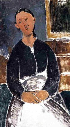 Amedeo Modigliani, Serving Woman on ArtStack #amedeo-modigliani #art