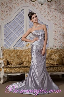 Elegant Sheath Strapless Chapel Train Satin Grey Prom Dresses 2013  http://www.prommagics.com/list_9_119-Prom-Desses-2013.html