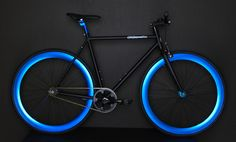 Black and Blue Fixie, Fixies, Fixie Bikes | AeroFix Cycles Edge | Fixed Gear Bike