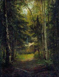 Сторожка в лесу - Ivan Shishkin – Wikimedia Commons