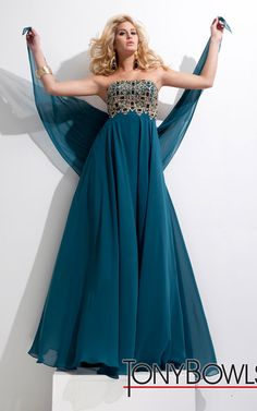 Strapless Prom Dresses Turquoise