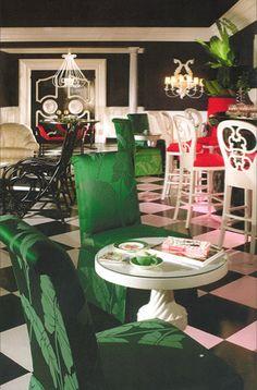 Greenbrier Resort in White Sulphur Springs, West Virginia  Interior Design by Dorothy Draper