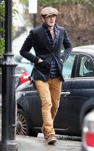 David Beckham Stays Warm in Blazer, Field Vest, and Red Wing Boots out in London | UpscaleHype