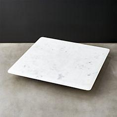 hex large teak serving board marble lazy susan