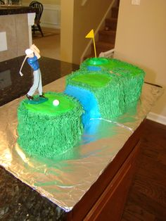 Golf Cake out of Buttercream icing