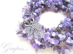 Amethyst hand-made necklace COLIER AMETIST (64 LEI la afterforever.breslo.ro) Burlap Wreath, Amethyst, Wreaths, Handmade, Jewelry, Design, Decor, Hand Made, Jewlery