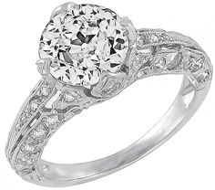 antique 2.01ct diamond engagement ring photo 1  DONEEE...This is my ring. Babe, start saving! haha