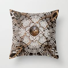 Simbelmyne Throw Pillow by fracts - fractal art - $20.00