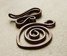 Antiqued copper handmade spiral clasp by dmsupply on Etsy, $3.00