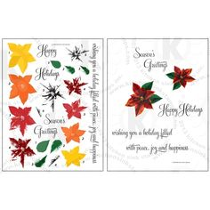 """Great Impressions background rubber stamp /""""JOY TO THE WORLD/"""" Christmas holidays"""