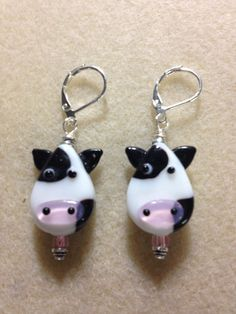 cow glass beads | Glasses