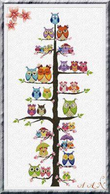 Owl Family tree, Alessandra Adelaide