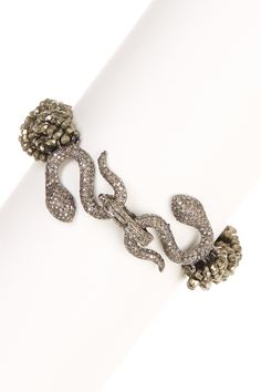 Diamond Snake Bracelet on @HauteLook