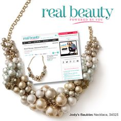 """We're delighted that RealBeauty.com featured our Jody's Baubles necklace in their """"Retail Therapy: Statement Necklaces"""" fashion story."""