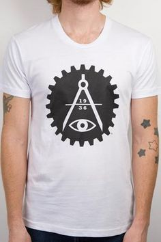 Gear Logo Tee - A symbol of the love triangle between craft, contemporary art, and industry