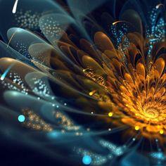 Amazing digital flower by Carrara, Italy based digital artist Silvia GufoZucca Cordedda.