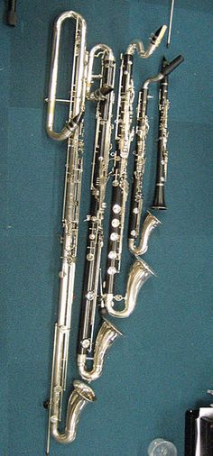 :)  (Right to left)  Bb Clarinet, Alto Clarinet, Bass Clarinet, Contrabass Clarinet, Subcontrabass Clarinet:)  <3