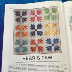 Look at that! My scrappy bear's paw quilt is in New Zealand Quilter. #nzquilter #scrappybearpawquilt #capitalquilters by wendysquiltsandmore