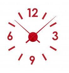 Reloj de Pared Adhesivo Rojo