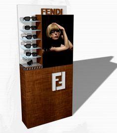 Fendy Eyewear 2008: il grande espositore / the big display.