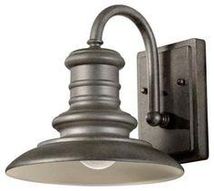 Redding 1-Light Wall Lantern, Silver