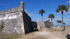 The 17th century Castillo de San Marcos is the oldest masonry fort in the United States. It was constructed by the Spaniards starting in 1672 to protect the city of St. Augustine, Florida.