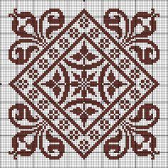 Cross Stitch Borders, Cross Stitch Designs, Cross Stitching, Cross Stitch Embroidery, Cross Stitch Patterns, Crochet Quilt, Crochet Cross, Crochet Chart, Crochet Stitches Patterns