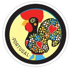 SOLD > Symbols of Portugal - Rooster Sticker < thanks  #GaloDeBarcelos #LuckyCharm #FamousRooster #Portugal