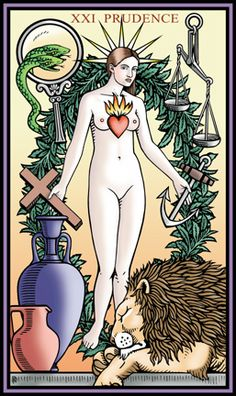Robert M Place ~ The Tarot of the Sevenfold Mystery: The World