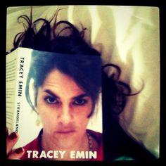 Portrait of myself reading 'Strangelands' by Tracey Emin