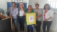 Empleados de la Direccion de los CIC entregaron donaciones a los peregrinos del Milagro