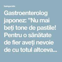 """Gastroenterolog japonez: """"Nu mai beți tone de pastile! Pentru o sănătate de fier aveți nevoie de cu totul altceva!"""" - Fasingur Mai, Medical, Health, Samurai, Health Care, Medicine, Med School, Samurai Warrior, Active Ingredient"""