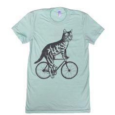 Cat on a Bike Ladies.....