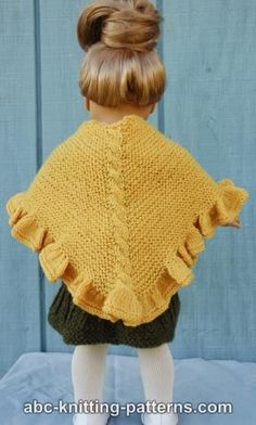KNIT: Free American Girl Doll Ruffle Shawl pattern