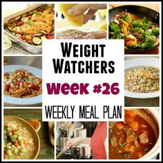 Weekly Weight Watchers Meal Plans With Points