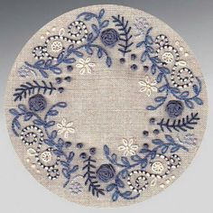 hand embroidery in blue. I want to embellish my blue and white hexie quilt like . hand embroidery in blue. I want to embellish my blue and white hexie quilt like . Crewel Embroidery Kits, Silk Ribbon Embroidery, Hand Embroidery Patterns, Cross Stitch Embroidery, Embroidery Needles, Handkerchief Embroidery, Hand Embroidery Projects, Embroidery Alphabet, Embroidery Shop