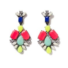 Candy Gemmed Statement Earrings from Accent SF!