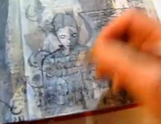 This video shows the development of a collage to create a background for a future portrait.