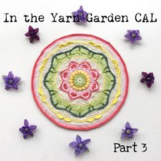Part 3 of the In the Yarn Garden CAL - A crochet along that will end up as a cushion cover.