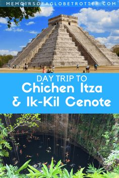 Take a day trip from #Cancun and discover the ancient ruins of #ChichenItza, swim in the sacred cenote of Ik-Kil, and visit the colonial town of #Valladolid. #Mexico