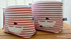 Täschchen aus Lieblingshemden / Zippered pouches made from favourite shirts / Upcycling