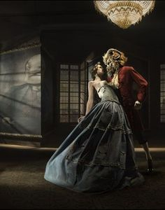 Beauty and the Beast - Spanish fashion photographer, Eugenio Recuenco did a Fairy Tale-themed fashion shoot for French Vogue in 2009.