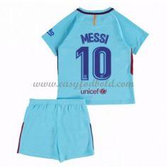 Barcelona Børn Fodboldtrøjer 2017-18 Lionel Messi 10 Udebanetrøje